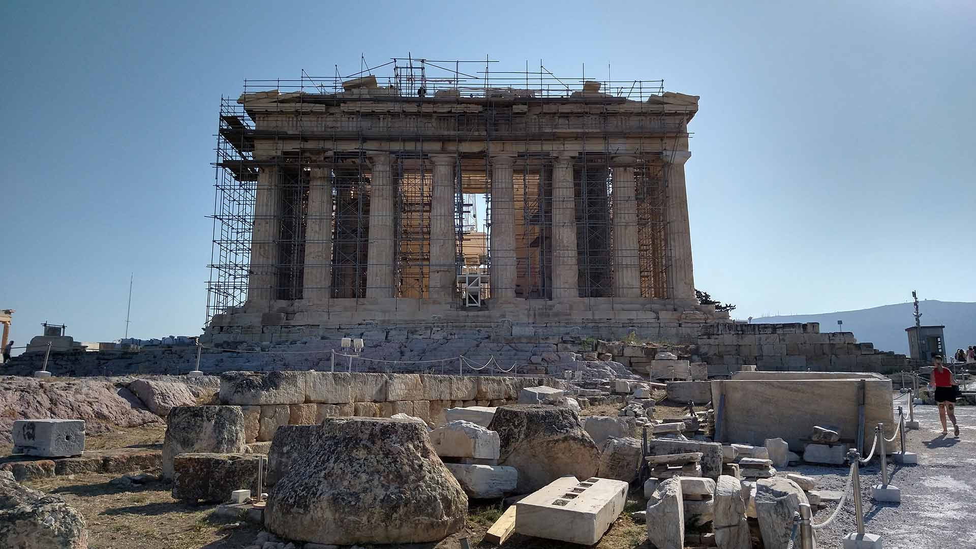 The Parthenon temple Highlights tour in Dutch or in German